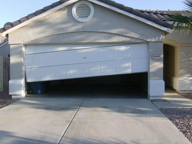An Off Track Garage Door Is Not Merely Unattractive But It May Also Be  Totally Risky And Unsteady. It Is Not Sensible To Deal With This Kind Of  Door With ...