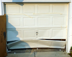 Beau Damaged Garage Door Panels